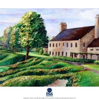 Cassy Tully's artwork depicting Whistling Straits' Hole No. 7 and its sand bunkers overlooking Lake Michigan has been selected as official 2015 PGA licensed merchandise.