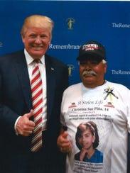 John Piña with President Trump.