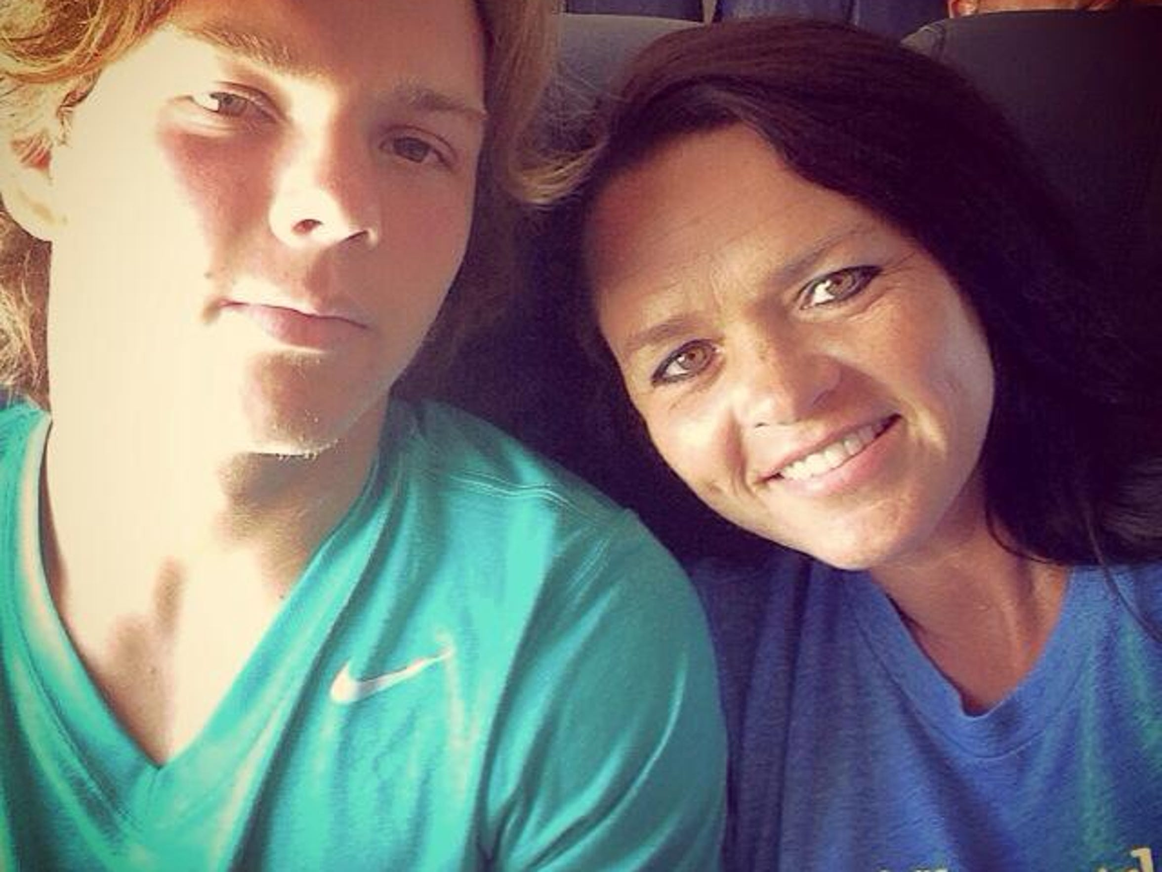 Karter and Connie Bounds travel back from a football