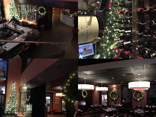 The holiday-friendly setting at Char Steakhouse in Raritan.