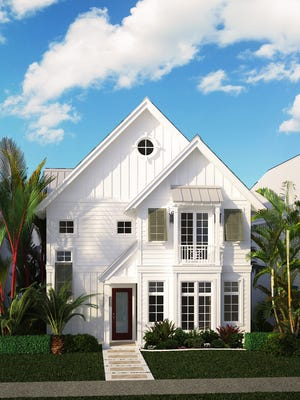 Soco Interiors' Daniel Kilgore, ASID, has created a coastal contemporary interior design for one of the three two-story Row Houses Stock Custom Homeswill be building on SixthStreet South in Old Naples.