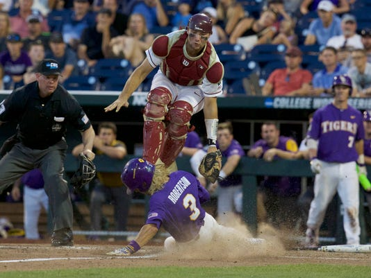 NCAA Baseball: College World Series-Florida State vs LSU