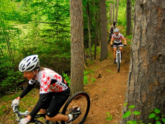 Riders weave through the Chequamegon National Forest on the CAMBA trail system near Cable Wisconsin.