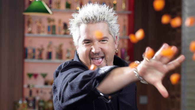 Guy Fieri, on the set of his Food Network show GUY FIERI'S BIG BITE.