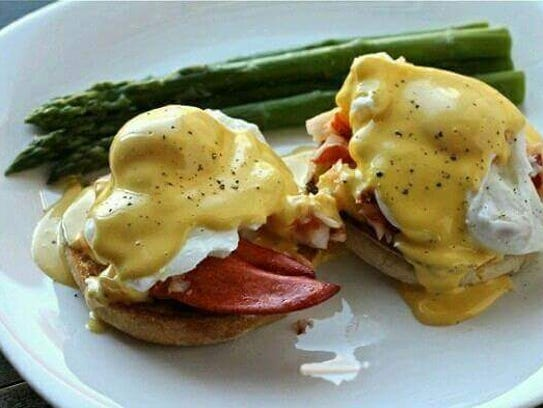 Lobster eggs Benedict from Blend on Main in Manasquan.
