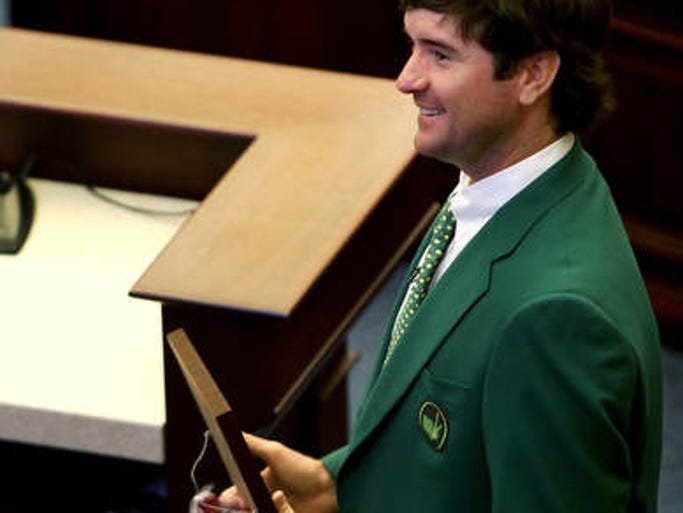 Masters champion Bubba Watson is honored by the Florida House on Friday morning.