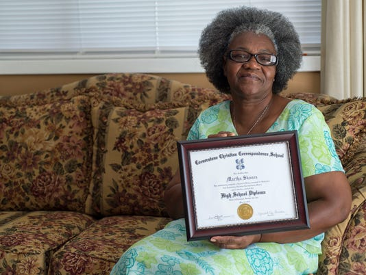 Martha Skanes earns diploma at 70