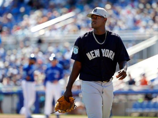 Yankees pitcher Luis Severino