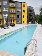 A 4-foot lap pool is one of the amenities at Alloy.