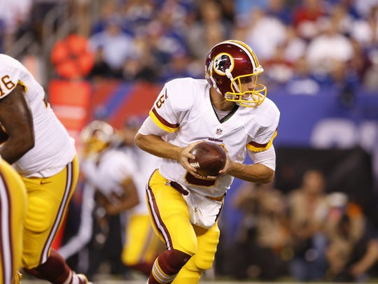 Washington Redskins quarterback Kirk Cousins could