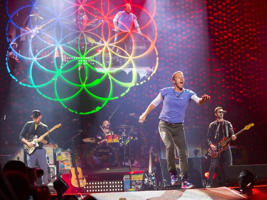 Coldplay performs at Gila River Arena in Glendale,