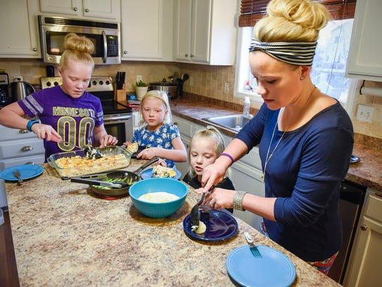 Sarah Morrell serves a high-fat, low-carb and low-sugar