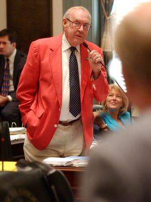 Then-Rep. Ben Ewing speaks during the final 2006 session of the Delaware General Assembly at Legislative Hall in Dover on June 30, 2006.
