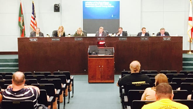 Brevard County commissioners debate the proposed county budget for the fiscal year that begins Oct. 1 before approving it by a 3-2 vote.
