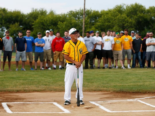 Gehlen Catholic coach Marty Kurth stands at home plate