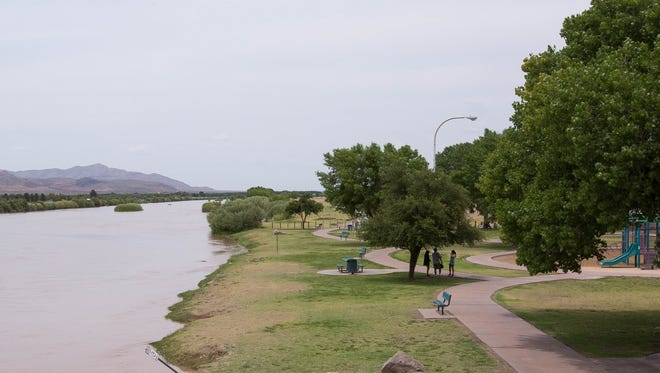 A view of La Llorona Park, which is marked to become part of the Rio Grande Trail, Friday June 15, 2018. The Rio Grande Trail Commission met at the New Mexico Farm & Ranch Heritage Museum to discuss the master plan for the 500 mile recreation trail that is planned to transverse the state.