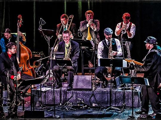 Rational Discourse includes a full ensemble that's ready to rock the house, or lawn, with big-band jazz.