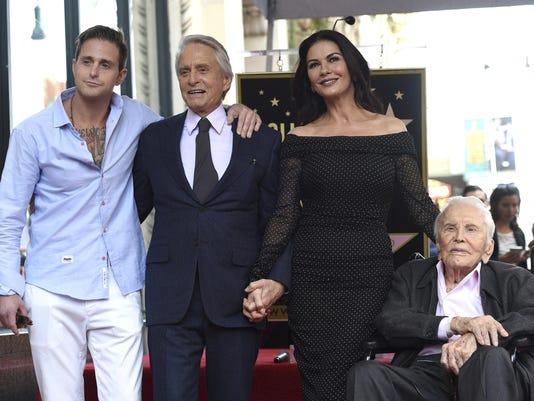 Michael Douglas,Catherine Zeta-Jones,Kirk Douglas,Cameron Douglas