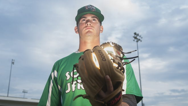 Drew Tumbelty, a Rancocas Valley High School graduate, has excelled on the mound this summer with the South Jersey Giants in the Atlantic Collegiate Baseball League.