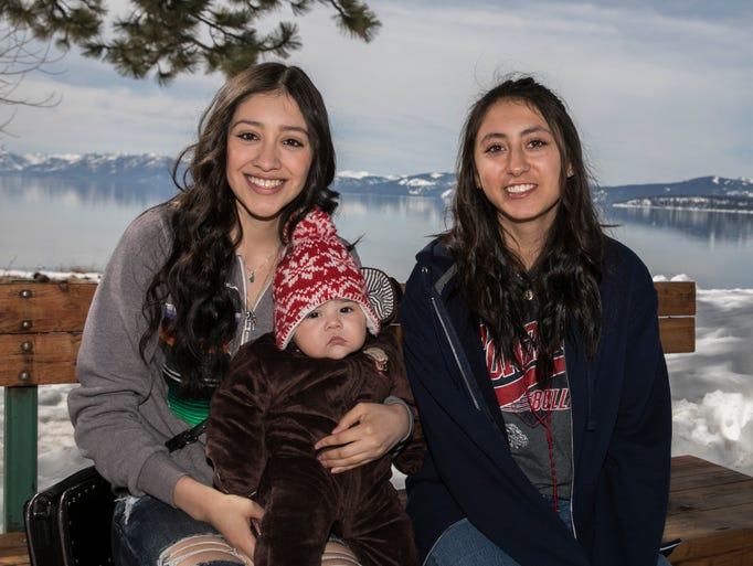 Esmeralda Ramirez, Jocelyn Guillen and five month old