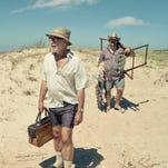 "Hector Noguera, left, and Nestor Guzzini head to the beach to search for a potential Nazi-in-hiding in the serio-comedy ""Mr. Kaplan."""