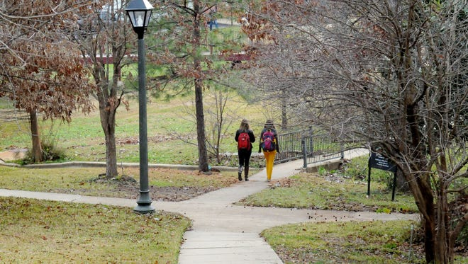 Students walk on the Centenary College campus.    Photo by Henrietta Wildsmith/The Times