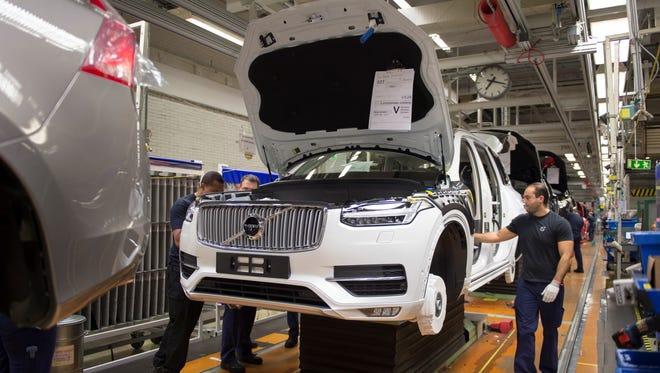 Pre-production of the all-new Volvo XC90 in Torslanda, Sweden