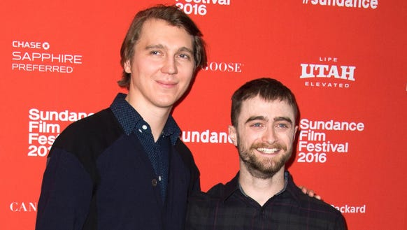 Paul Dano and Daniel Radcliffe attend the premiere