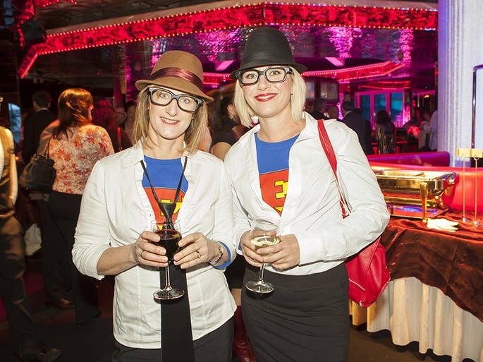 Paige Galeoto and Maren Rush at the 2014 Addy Awards at the Peppermill Resort Spa Casino in Reno.