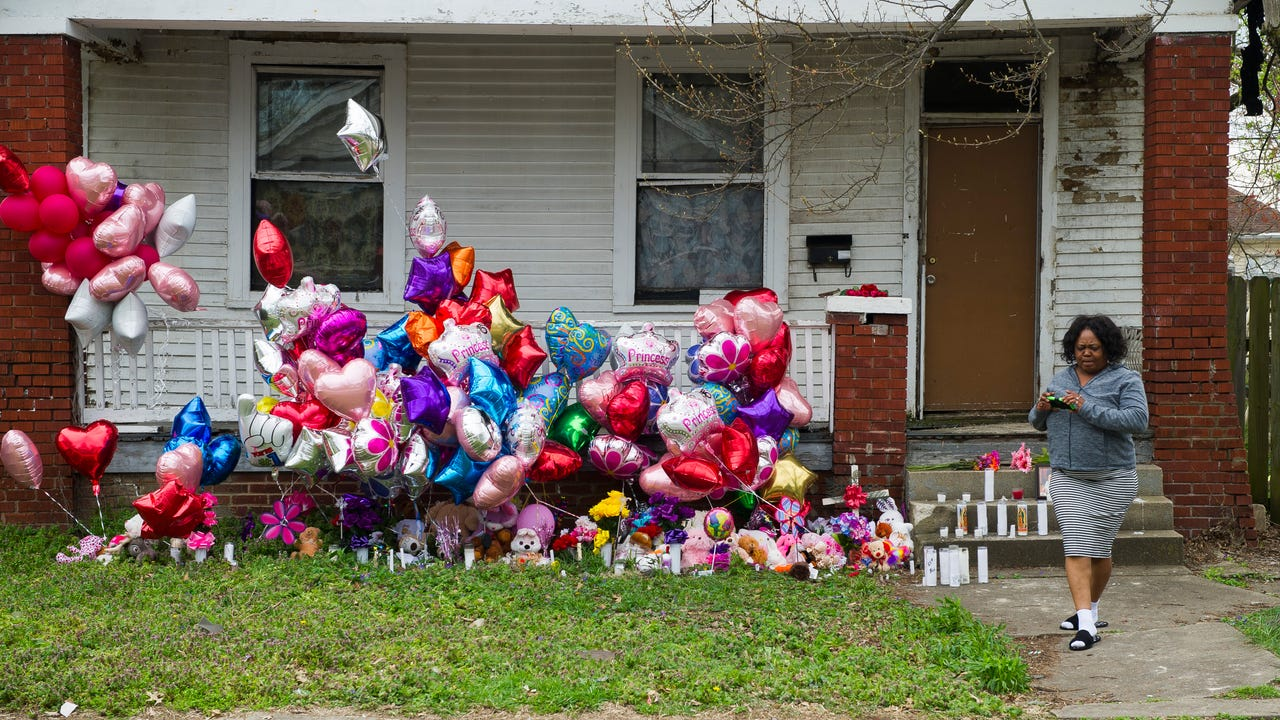 The vacant house where the body of Aleah Beckerle was found has been demolished by the city.