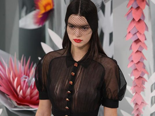 Kendall Jenner on the catwalk