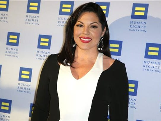 In this March 14, 2015 file photo, Sara Ramirez arrives
