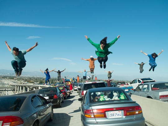 The L.A. freeway becomes ground zero for the opening