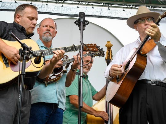 Members of the Bluegrass band Rosine Diner's Club from