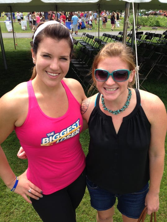 Biggest Loser winner Danni Allen and me at the Boilermaker Expo. She is clearly better at posing and not so disheveled.
