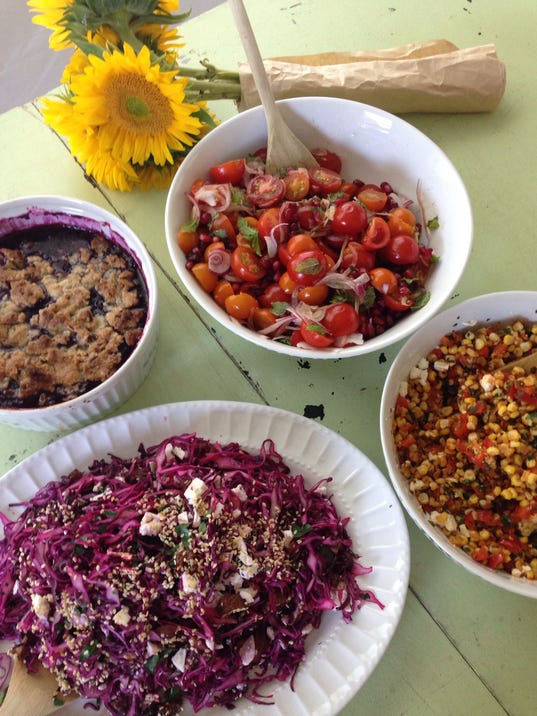 August harvest side dish party