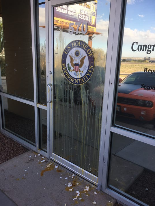 Congressman Steve Pearce's office vandalized