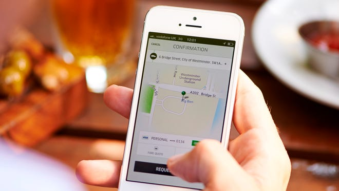 Uber Technologies' service is based on a mobile application that enables customers to request rides.