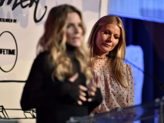 Michelle Pfeiffer and Gwyneth Paltrow at Variety's Power of Women luncheon, presented by Lifetime.