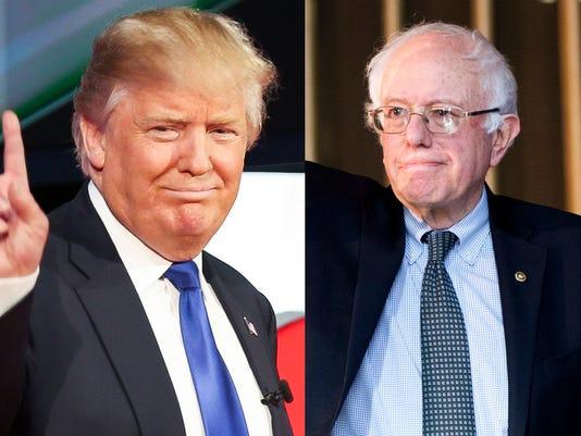 Sanders Trump montage