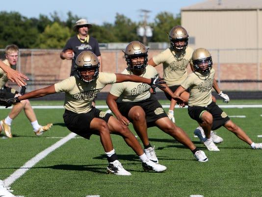 Rider Football Practice