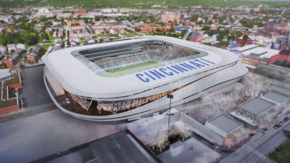 FC Cincinnati West End stadium rendering
