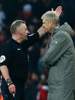 Wenger was sent to the stands in Arsenal's win against Burnley.