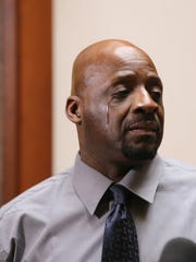 Floyd Dent 57, gets emotional as he recounts the beating
