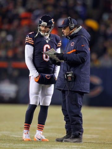 Dec 4, 2014; Chicago, IL, USA; Chicago Bears quarterback