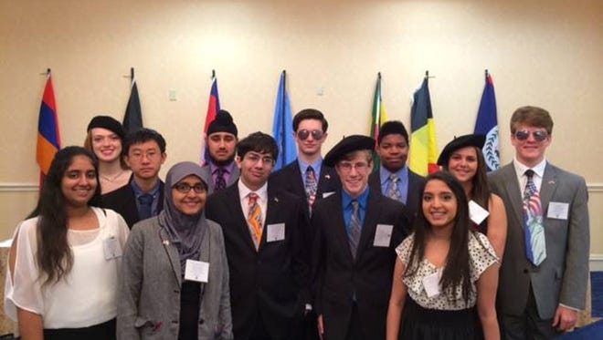 Sumner Hill Jr. High students participated in theModel United Nations Conference