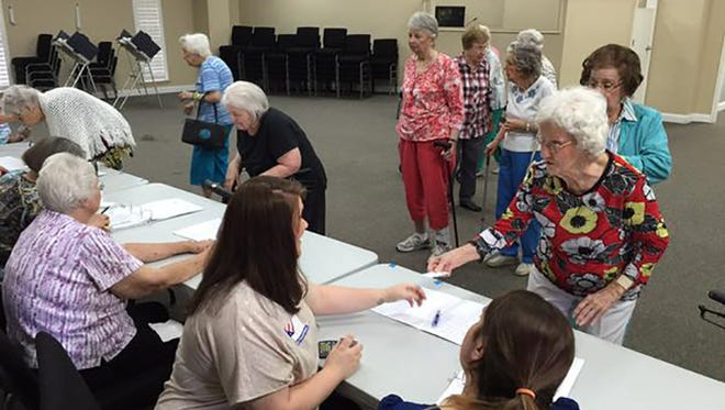 This group of seniors in Madison, Miss. made one precinct bustle momentarily in Tuesday's runoff election.