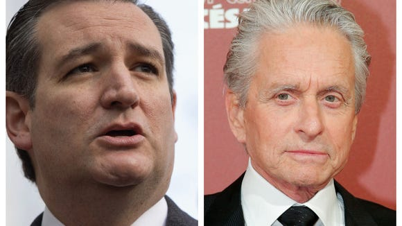 Ted Cruz lifted a line from one of Michael Douglas'