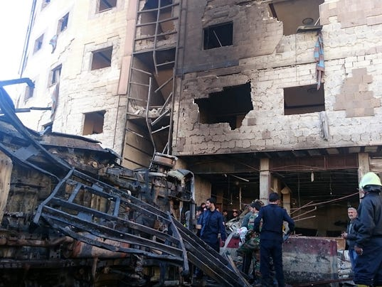 EPA SYRIA UNREST DAMASCUS BOMBING WAR ACTS OF TERROR SYR
