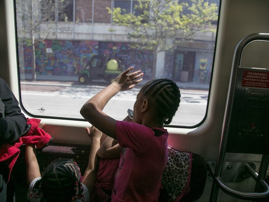 Taiyla Young (left) of Detroit and Jyahri Pye of detroit